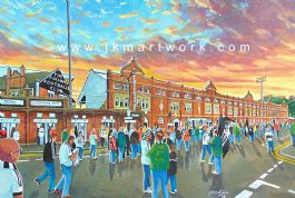 Hand Painted original of CRAVEN COTTAGE gtm